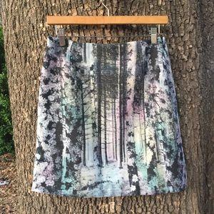🆕 NWT Catherine Malandrino Skirt //rainbow trees